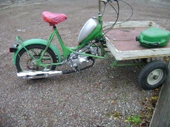 Flakmoppe med Lifan-Motor 72cc